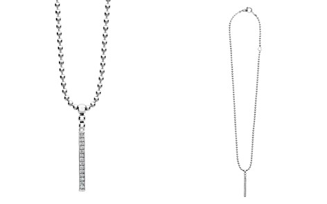 "LAGOS Sterling Silver Caviar Spark Diamond Stick Pendant Necklace, 16"" - Bloomingdale's_2"