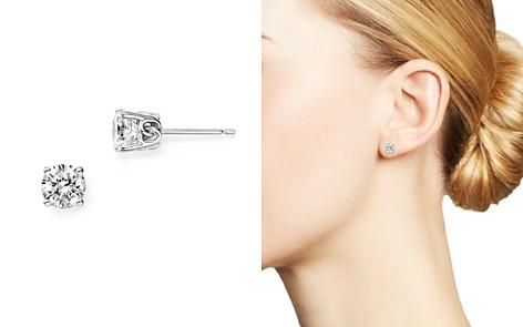 Diamond Stud Earrings in 14 Kt. White Gold, 1.0 ct. t.w. - 100% Exclusive - Bloomingdale's_2
