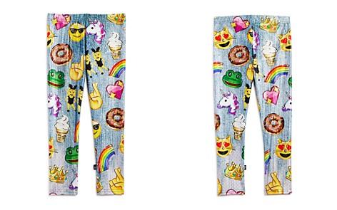 Terez Girls' Emoji Sketch Denim-Print Leggings - Little Kid - Bloomingdale's_2