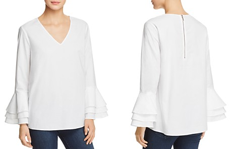Love Scarlett Ruffle Sleeve V-Neck Top - Bloomingdale's_2