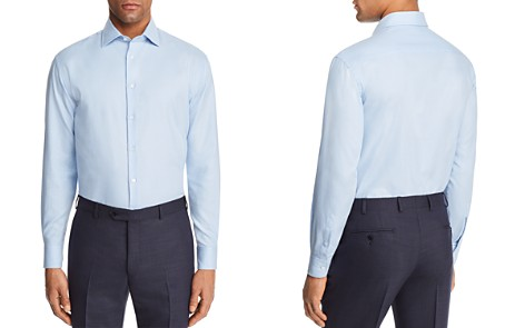 Emporio Armani Micro Check Slim Fit Button-Down Shirt - Bloomingdale's_2