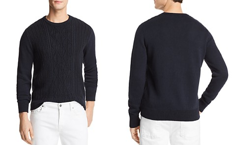 The Men's Store at Bloomingdale's Knit Twist Crewneck Sweater - 100% Exclusive_2