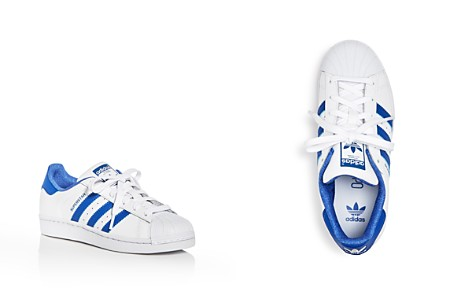 Adidas Unisex Superstar Embossed Leather Lace Up Sneakers - Big Kid - Bloomingdale's_2