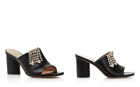 Stuart Weitzman Women's The One Embellished Leather Block Heel Slide Sandals - Bloomingdale's_2