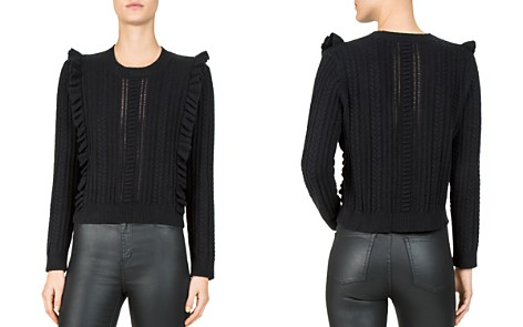 The Kooples Ruffled Cable-Knit Sweater - Bloomingdale's_2