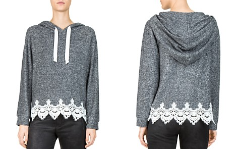 The Kooples Lace-Hem Hoodie - Bloomingdale's_2