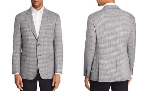 Emporio Armani Check Stitch Regular Fit Sport Coat - Bloomingdale's_2