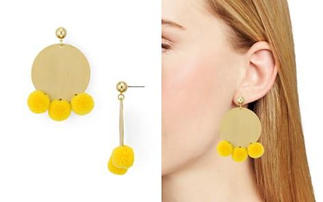 AQUA Large Disc Pom-Pom Drop Earrings - 100% Exclusive - Bloomingdale's_2