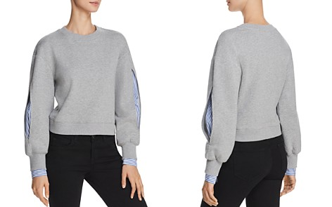 Derek Lam 10 Crosby Layered-Look Sweatshirt - Bloomingdale's_2