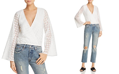 Sadie & Sage Flare-Sleeve Eyelet Top - 100% Exclusive - Bloomingdale's_2