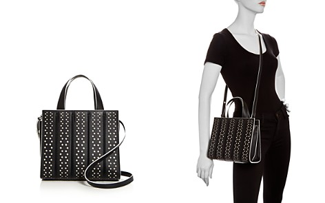 Max Mara Small Whitney Perforated Leather Satchel - Bloomingdale's_2