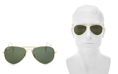 Ray-Ban Classic Folding Aviator Sunglasses, 58mm - Bloomingdale's_2