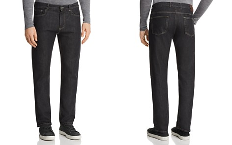 Canali Stretch New Tapered Fit Jeans in Black Denim - Bloomingdale's_2