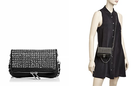 Zadig & Voltaire Rock Nano Spike Mini Leather Crossbody Clutch - Bloomingdale's_2