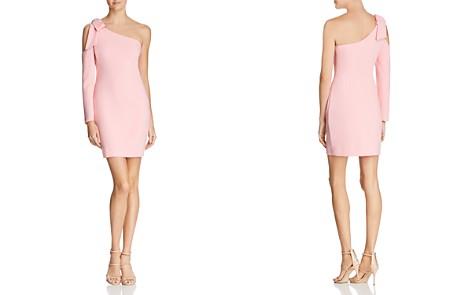 Black Halo Eleece One-Shoulder Mini Dress - Bloomingdale's_2