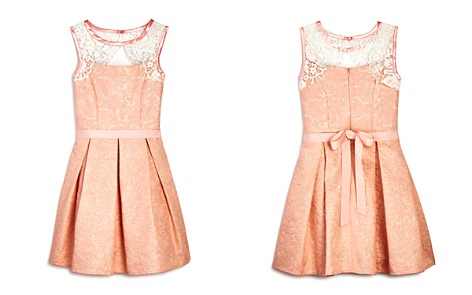 US Angels Girls' Metallic Brocade Dress - Big Kid - Bloomingdale's_2
