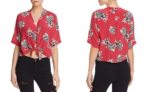 Rails Thea Pineapple Print Silk Tie-Front Top - Bloomingdale's_2