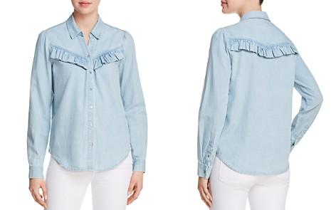 PAIGE Layda Ruffled Chambray Shirt - Bloomingdale's_2