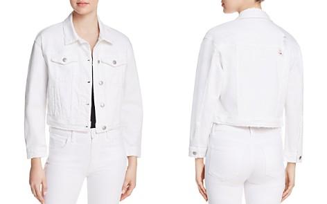 Joe's Jeans Cropped Denim Jacket in Artemis - Bloomingdale's_2