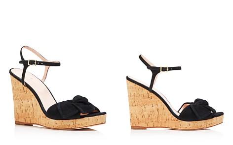 kate spade new york Women's Janae Suede Knotted Platform Wedge Sandals - Bloomingdale's_2