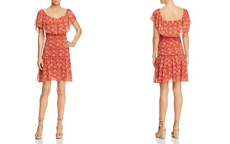 Rebecca Minkoff Lynne Shoulder-Detachable Ruffle Floral-Print Dress - Bloomingdale's_2