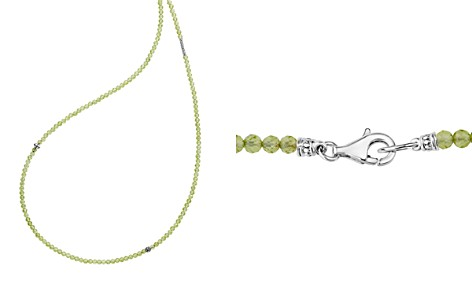 "LAGOS Sterling Silver Caviar Icon Peridot Five Station Strand Necklace, 34"" - Bloomingdale's_2"