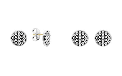 LAGOS Sterling Silver Bold Caviar Button Stud Earrings - Bloomingdale's_2