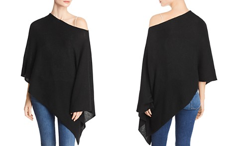 C by Bloomingdale's One-Shoulder Lightweight Cashmere Poncho - 100% Exclusive _2