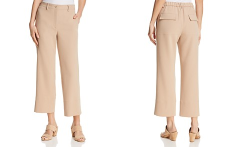 Theory Fluid Cropped Pants - 100% Exclusive - Bloomingdale's_2