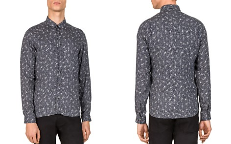 The Kooples Guitar Notes Slim Fit Button-Down Shirt - Bloomingdale's_2