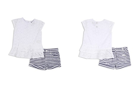 7 For All Mankind Girls' Eyelet Top & Striped Shorts Set - Baby - Bloomingdale's_2