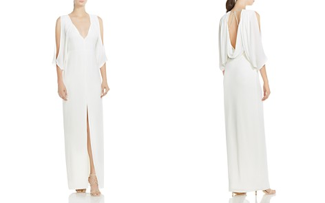 HALSTON HERITAGE Cold-Shoulder Draped Gown - Bloomingdale's_2