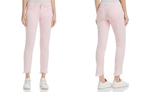 BLANKNYC Frayed Ankle Skinny Jeans in Pink - 100% Exclusive - Bloomingdale's_2