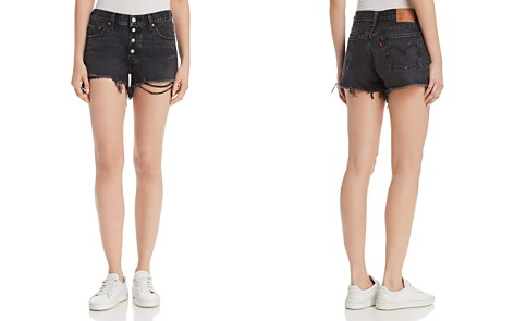 Levi's 501 Cutoff Denim Shorts in Black - Bloomingdale's_2