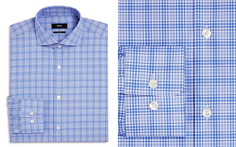 BOSS Checked Overlay Regular Fit Dress Shirt - Bloomingdale's_2