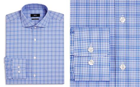 BOSS Checked Overlay Regular Fit Dress Shirt - Bloomingdale's_2