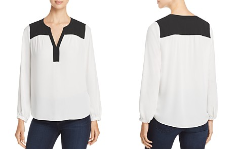 NYDJ Color-Block Peasant Top - 100% Exclusive - Bloomingdale's_2