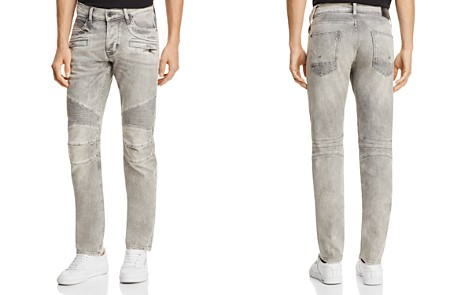 Hudson Blinder Biker Super Slim Fit Jeans in Carbon Fiber - Bloomingdale's_2