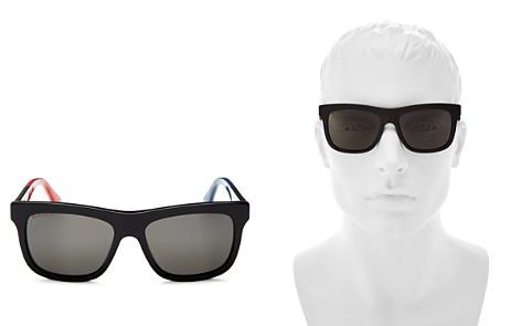 Gucci Men's Flat Top Color-Block Square Sunglasses, 55mm - Bloomingdale's_2