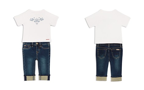 Hudson Girls' Embroidered Tee & Cuffed Jeans Set - Baby - Bloomingdale's_2