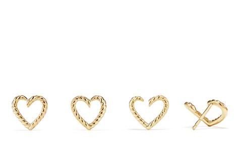 David Yurman Cable Heart Earrings in 18K Gold - Bloomingdale's_2