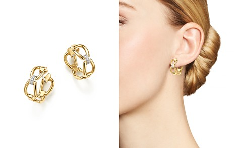 Roberto Coin 18K Yellow Gold Classic Parisienne Diamond Hoop Earrings - 100% Exclusive - Bloomingdale's_2