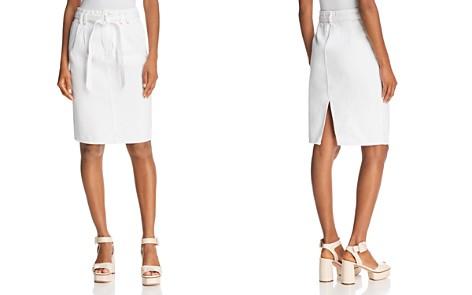 J Brand Tie-Waist Denim Skirt in White - Bloomingdale's_2