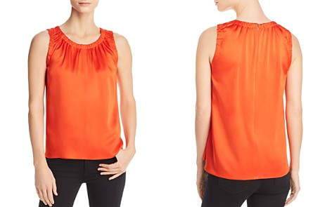BOSS Ivanica Shirred Sleeveless Top - Bloomingdale's_2