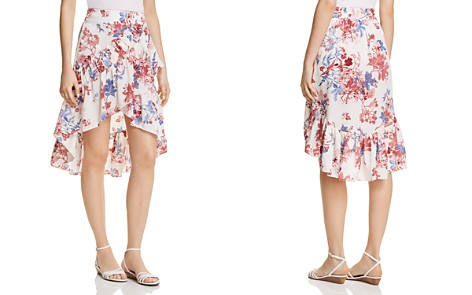 MISA Los Angeles Luz Floral High/Low Skirt - Bloomingdale's_2