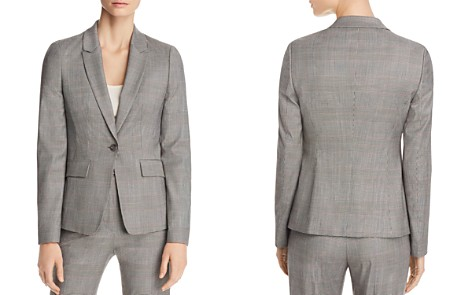 BOSS Jofilia Plaid One-Button Blazer - Bloomingdale's_2