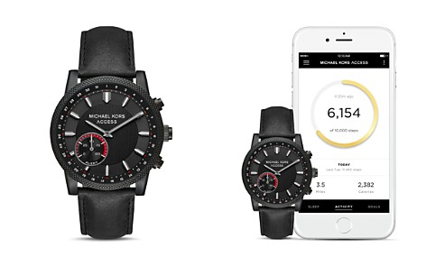 Michael Kors Hutton Black Hybrid Smartwatch, 43mm - Bloomingdale's_2