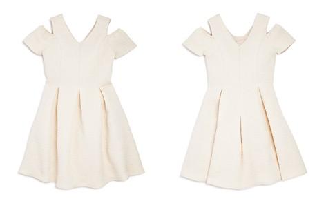 US Angels Girls' Pleated Cold-Shoulder Jacquard Dress - Big Kid - Bloomingdale's_2