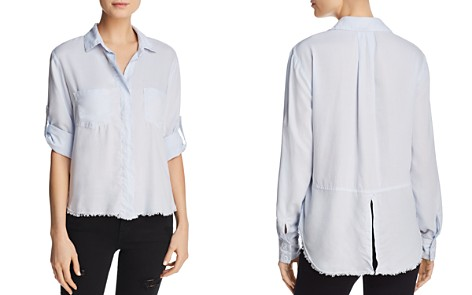 Bella Dahl Frayed-Hem High/Low Blouse - Bloomingdale's_2
