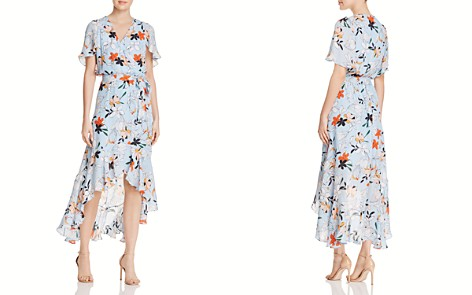 Parker Demi Floral High/Low Silk Dress - Bloomingdale's_2